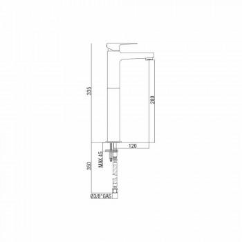 Baterie înaltă pentru chiuvetă din alamă fără scurgere Made in Italy - Sindra