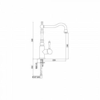 Baterie clasică pentru chiuvetă din oțel inoxidabil Made in Italy - Cadou