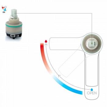 Baterie modernă pentru bidet din alamă cu canal de scurgere Made in Italy - Sindra