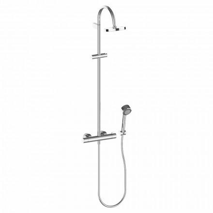 Coloana de duș cu cap de duș și duș de mână din alamă cromată, de înaltă calitate - Zanio