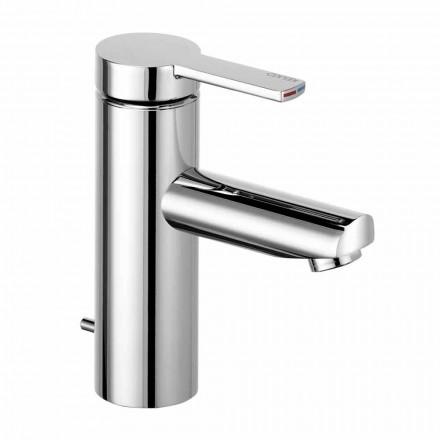 Baterie monocomandă pentru chiuvetă de baie din alamă, design prețios - Zanio
