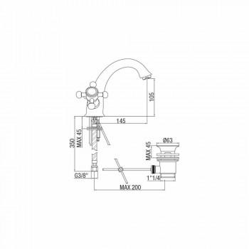 Baterie cu o singură gaură pentru lavoar de baie din alamă Fabricat în Italia - Lisca