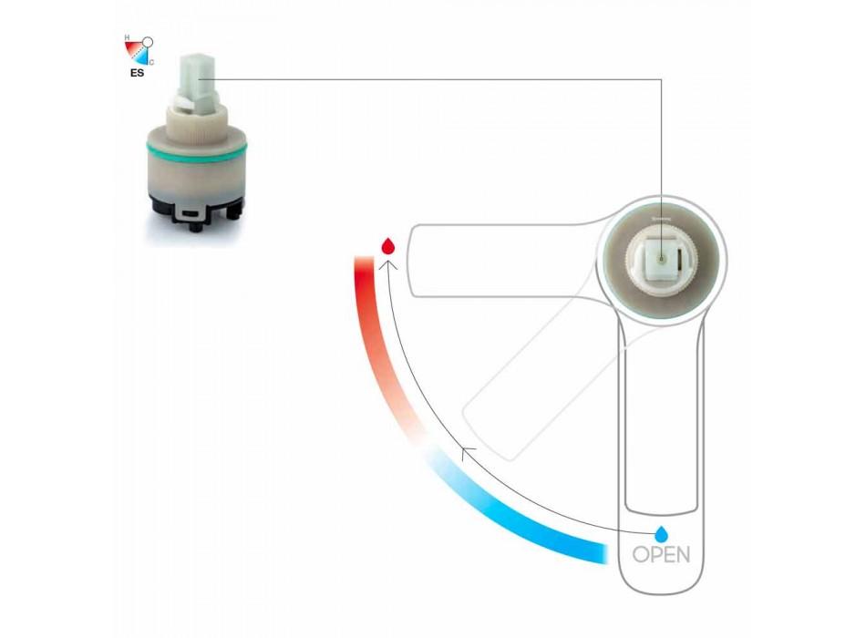 Baterie de lavoar reglabilă cu arc din alamă Fabricat în Italia - Cardio