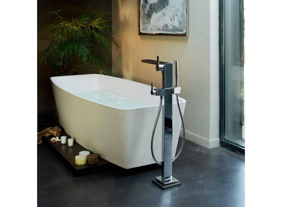 Mixer modern pentru cadă cu duș de mână și furtun flexibil - Etto