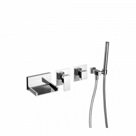 Mixer de baie încorporat cu kit de duș Fabricat în Italia - Bibo