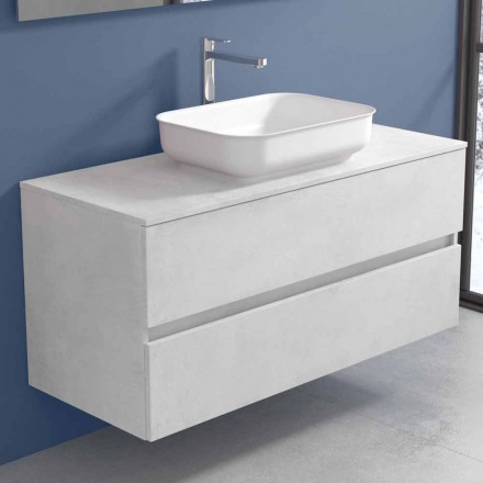 Mobilier de baie suspendat cu lavoar design în 4 finisaje - Paoletto