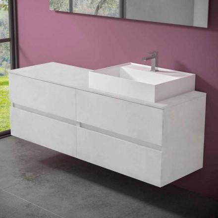 Dulap suspendat pentru baie cu lavoar de blat din rășină design - Alchimeo