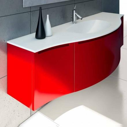 Dulap suspendat de baie cu chiuveta integrată, 1cestone + 2ante Gioia