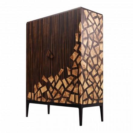 Grilli Zarafa dulap cu 2 usi de design realizat in Italia din lemn de abanos