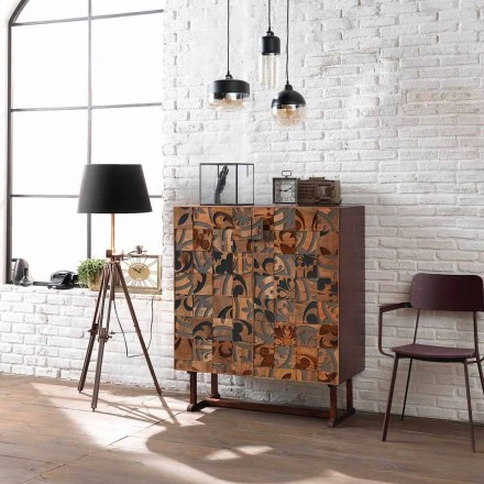 Design cabinet cu două uși în lemn de mango, Cellara