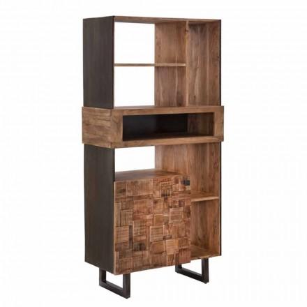 Bibliotecă design din lemn de fier și salcâm - Desdemona