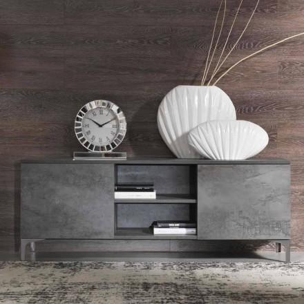 Dulap TV modern din lemn de melamină Două uși fabricate în Italia - Clemente