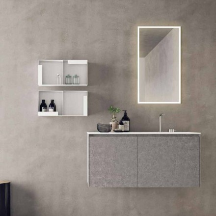 Mobilier de design suspendat, compoziție modernă pentru baie - Callisi9