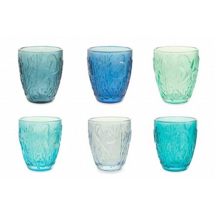 Ochelari modern colorați 6 piese Serviciu de apă - Mazara