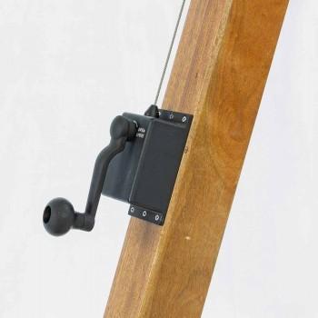 Umbrelă de exterior Ecrù Color în poliester și lemn 3x4 Homemotion - Passmore