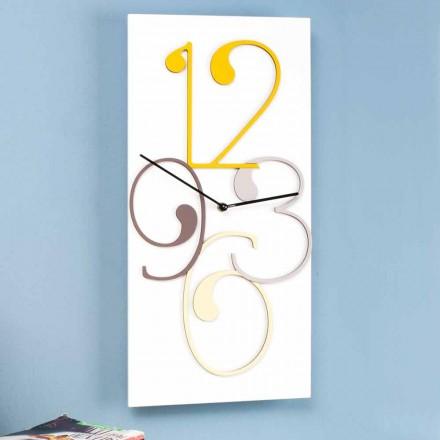 Design modern dreptunghiular colorat și ceas de perete alb - Matematică