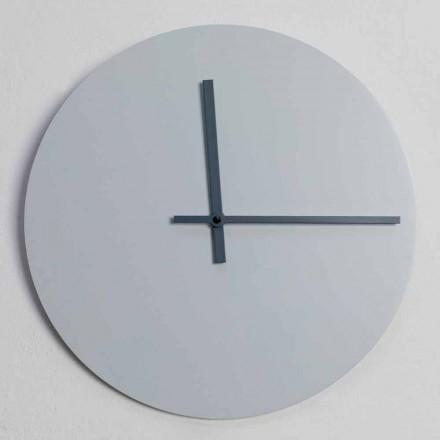 Ceas de perete rotund de design modern gri și albastru realizat în Italia - Umbriel