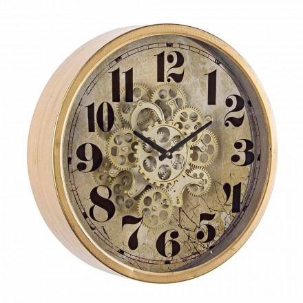 Ceas de perete rotund Diametru 46,5 cm în oțel și sticlă Homemotion - Rando