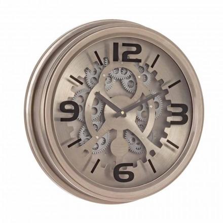 Ceas de perete în stil clasic din oțel și MDF Homemotion - brut