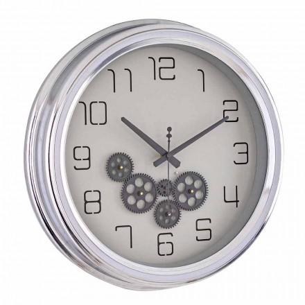 Ceas de perete de design vintage cu structură din oțel Homemotion - Gimbo
