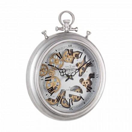 Ceas de perete din oțel și sticlă Design Vintage Homemotion - Gringo