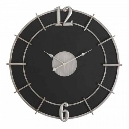 Ceas de perete rotund de design modern din fier și MDF - Hope