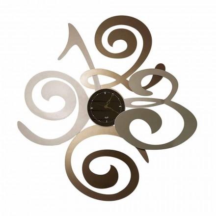 Ceas cu oglindă de perete cu design modern din fier Made Italy - Cornflower