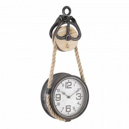 Ceas de perete de design vintage din oțel și sticlă Homemotion - Edvige