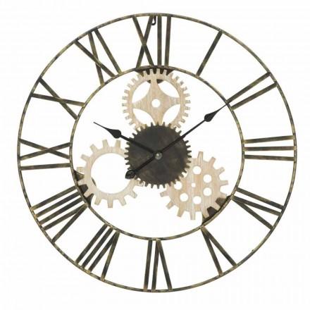 Ceas de perete rotund Diametru 70 cm Design modern în fier și MDF - Jutta