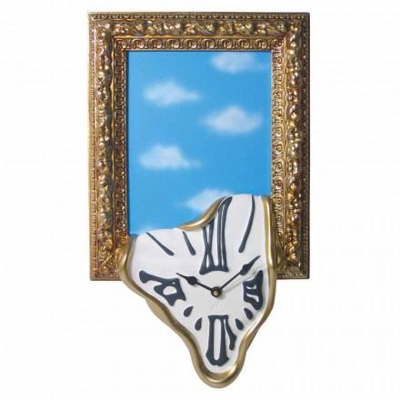Ceas de perete cu ramă foto din rășină Made in Italy - Bigno