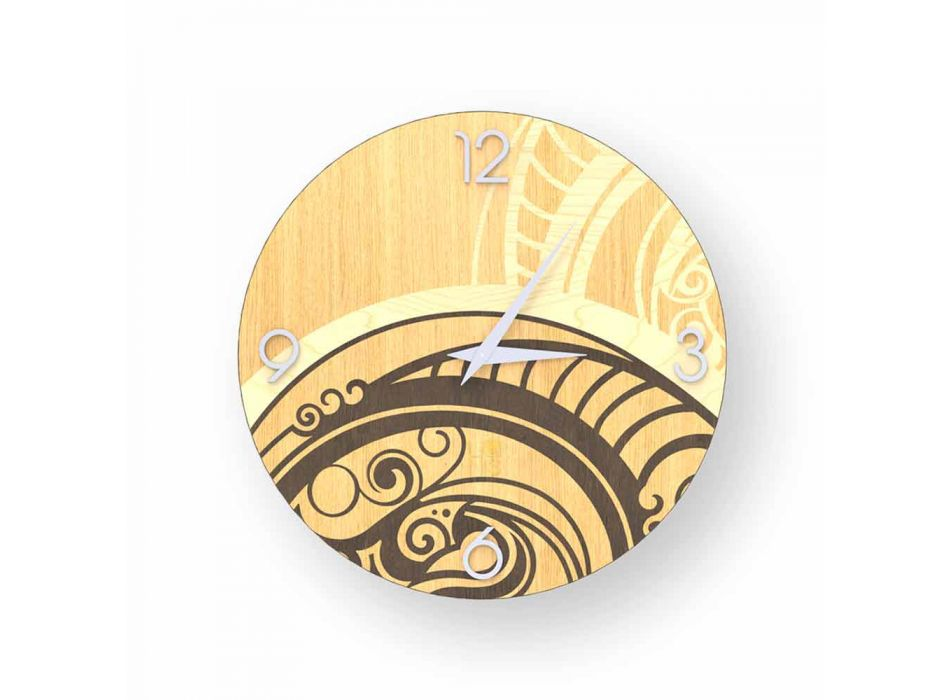 Adro abstract ceas de perete de design din lemn, făcute în Italia