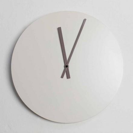 Ceas de perete modern cu design industrial colorat fabricat în Italia - Fobos