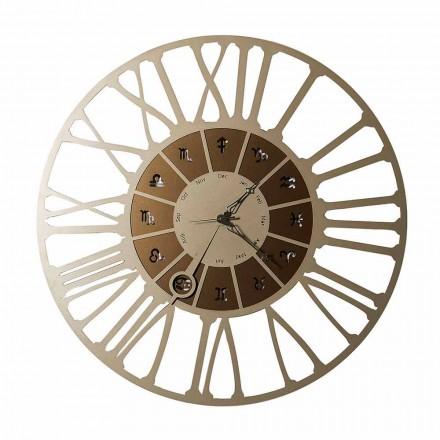 Ceas de perete din două tonuri din fier, fabricat în Italia - Capricorn