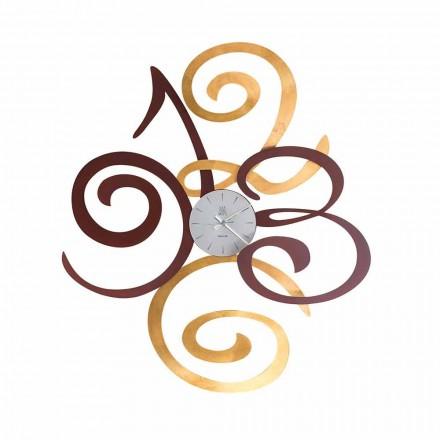 Ceas de perete design din fier colorat Made in Italy - Fiordaliso