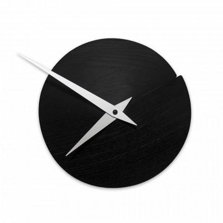 Ceas de perete rotund Diametru 19,5 cm din lemn Made in Italy - Cratere