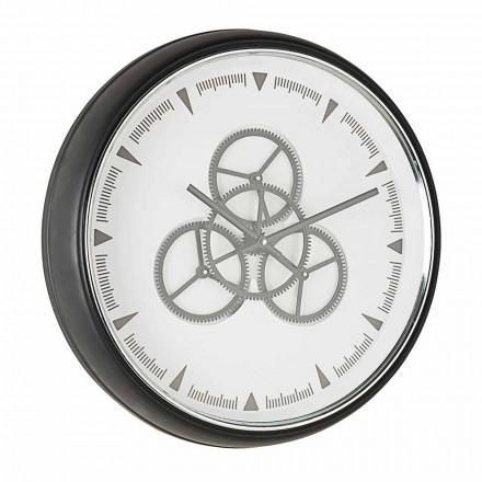 Diametru ceas de perete 50 cm în oțel și sticlă Homemotion - Severio