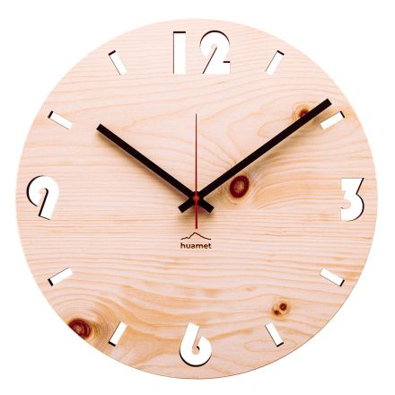 Ceas de perete din lemn de pin elvețian fabricat în Italia Andrea
