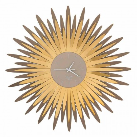 Ceas de perete modern cu formă de fier din Made in Italy - Fuoco