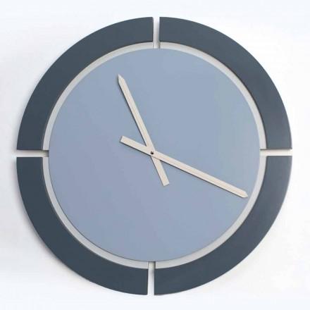 Ceas de perete modern rotund în albastru albastru Avio - Savio