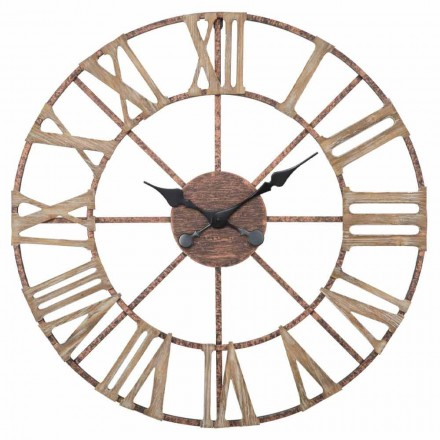 Ceas de perete modern cu diametrul de 71,5 cm în fier și MDF - Carcans