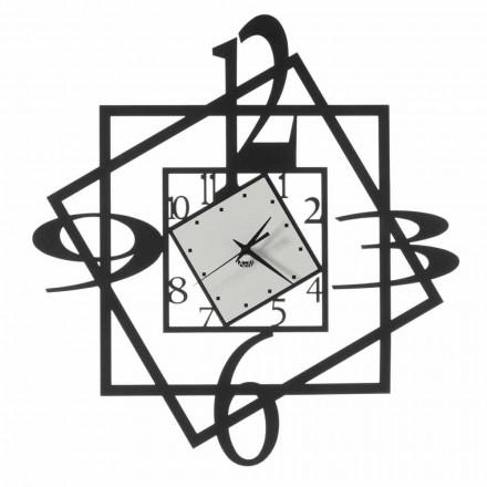 Ceas modern de perete din fier Design geometric realizat în Italia - Procida