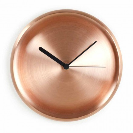 Ceas de perete rotund în design de cupru lustruit realizat în Italia - Ogio
