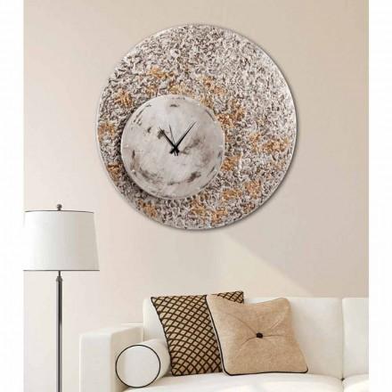 Ceas de perete pe două niveluri de design făcute în Italia Eccli