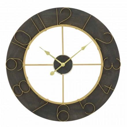 Ceas de perete rotund Diametru 70 cm Design modern în fier și MDF - Tonia