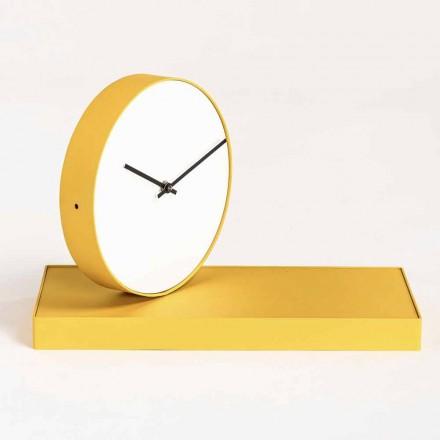 Ceas de masă pivotant cu oglindă din oțel Fabricat în Italia - Meritoriu