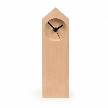 Ceas de masă modern din lemn de arțar evaporat fabricat în Italia - artar