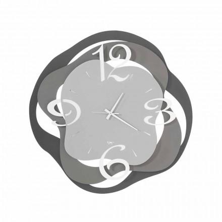 Ceas de perete cu design modern din fier fabricat în Italia - Gertrude