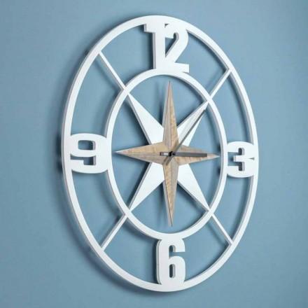 Design mare pentru ceasuri de perete din lemn Shabby și Brown - balamale