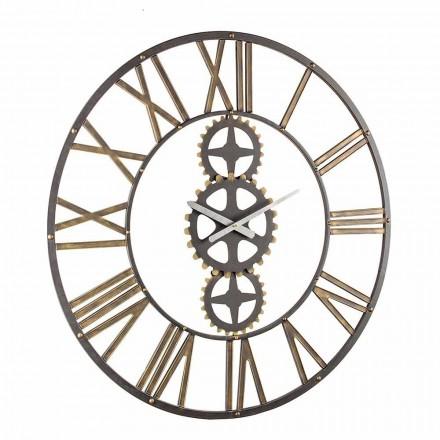 Ceas de perete mare în stil vintage din oțel Homemotion - mai