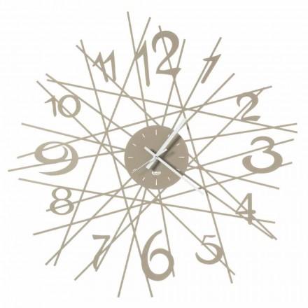 Ceas de perete rotund din fier, fabricat în Italia - Kombo